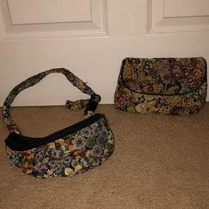 Vintage Jennie Vaughn Designs fanny pack & purse